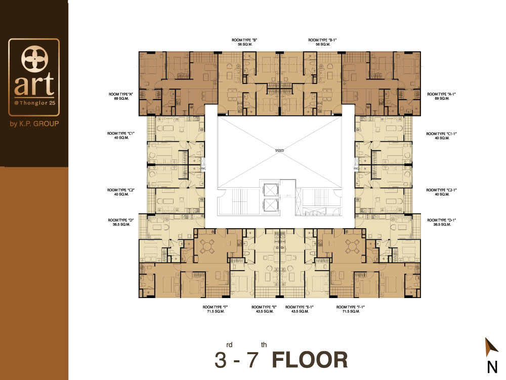 3rd - 7th Floor Plan